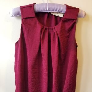 RW&CO Raspberry Short Sleeve Blouse with Gathers